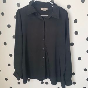 🌈5/$25🌈Notations sheer blouse black size 1X
